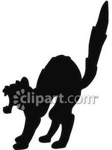 225x300 Silhouette Of A Scared Cat