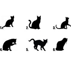 236x235 Cat Silhouette Set Of Cats Silhouettes Illustration