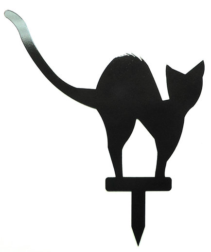 Scary Black Cat Silhouette At GetDrawings
