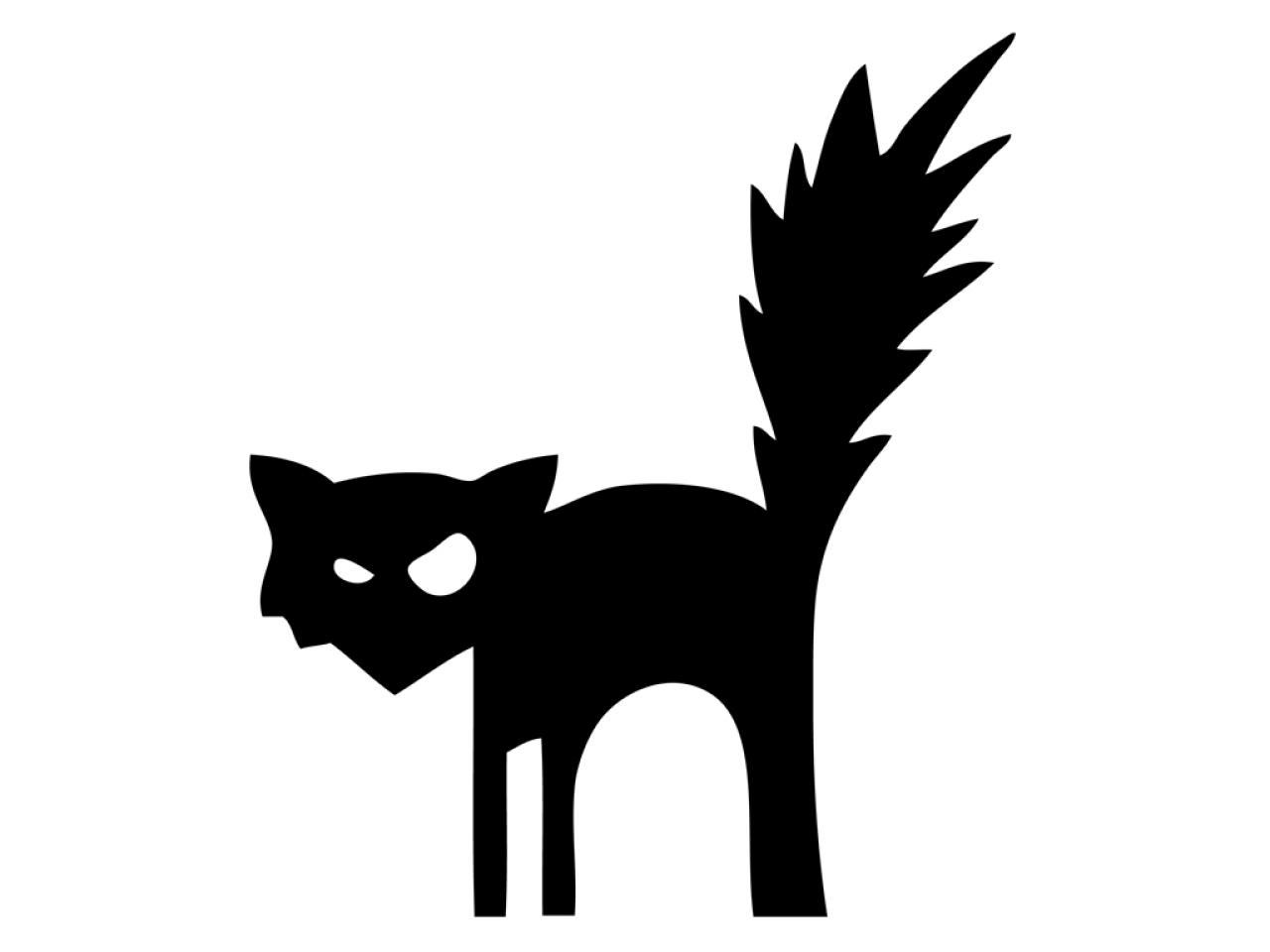 Scary Black Cat Silhouette at GetDrawings.com | Free for ...