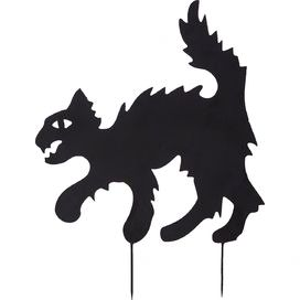 272x272 Scary Cat Silhouette Holiday Fun Scary Cat