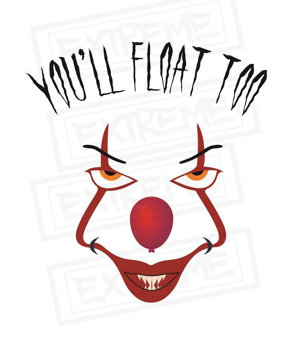 570x668 Pennywise Svg, You'Ll Float Too, It The Clown, Cricut Cut File
