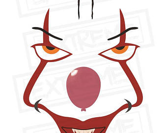 340x270 Pennywise The Clown It Movie Svg Dxf Silhouette Cameo Cricut