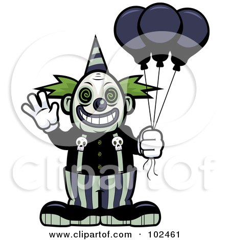450x470 Royalty Free (Rf) Scary Clown Clipart, Illustrations, Vector