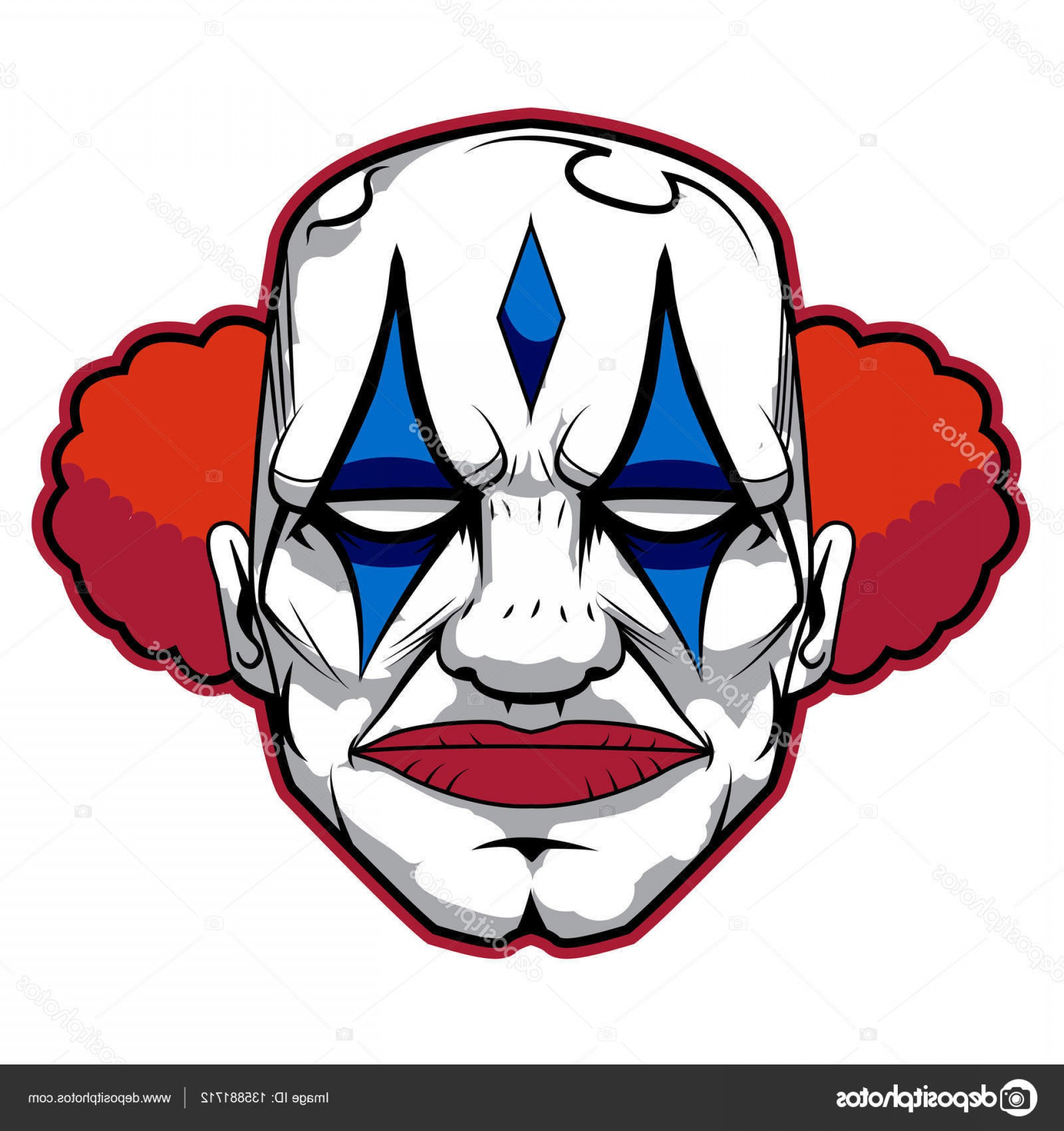 1920x2040 Stock Illustration The Bad And Scary Clown Createmepink