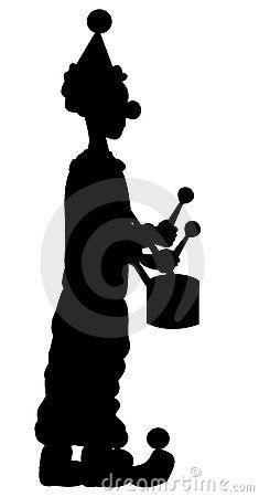235x450 Silhouette Clown 7596286.jpg Pixel Zirkus