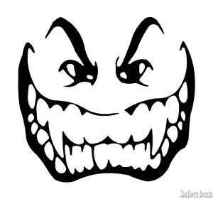 300x280 Vampire Teeth Decal Vampire Face Fangs Scary Decal Sticker 24
