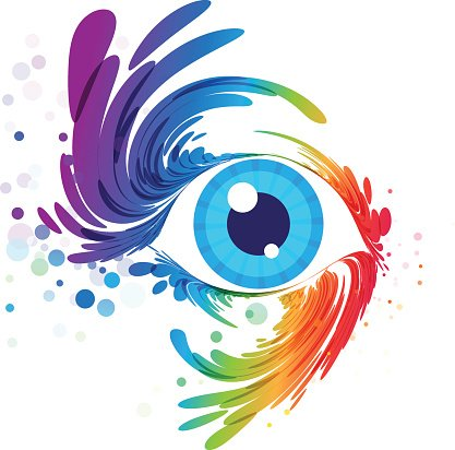 417x412 Eye Art And Splash Eyelashes On White Background Premium Clipart