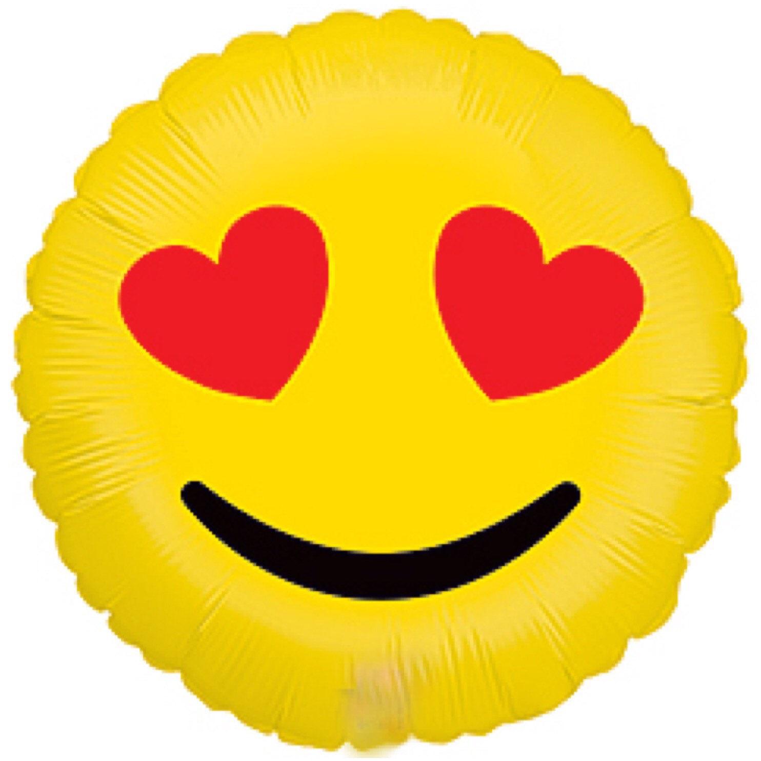 1484x1484 Emoji Balloon 18 Emoji Hearts Emoticon Love Smiles