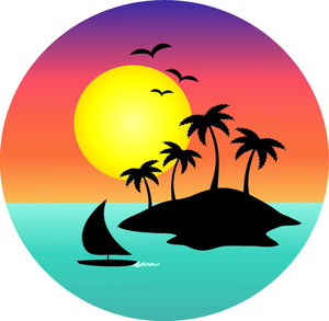 300x293 Landscape Clipart Hawaiian Beach