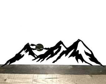 340x270 Mountain Range Art Etsy