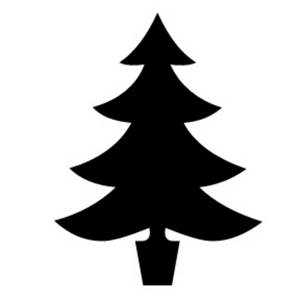 300x300 tree scenery clipart black and white