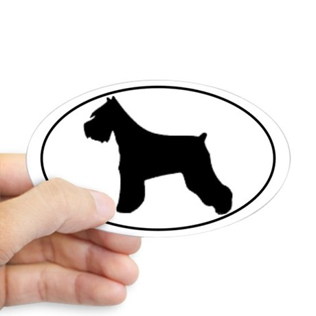 460x460 Miniature Schnauzer Rescue Oval Stickers