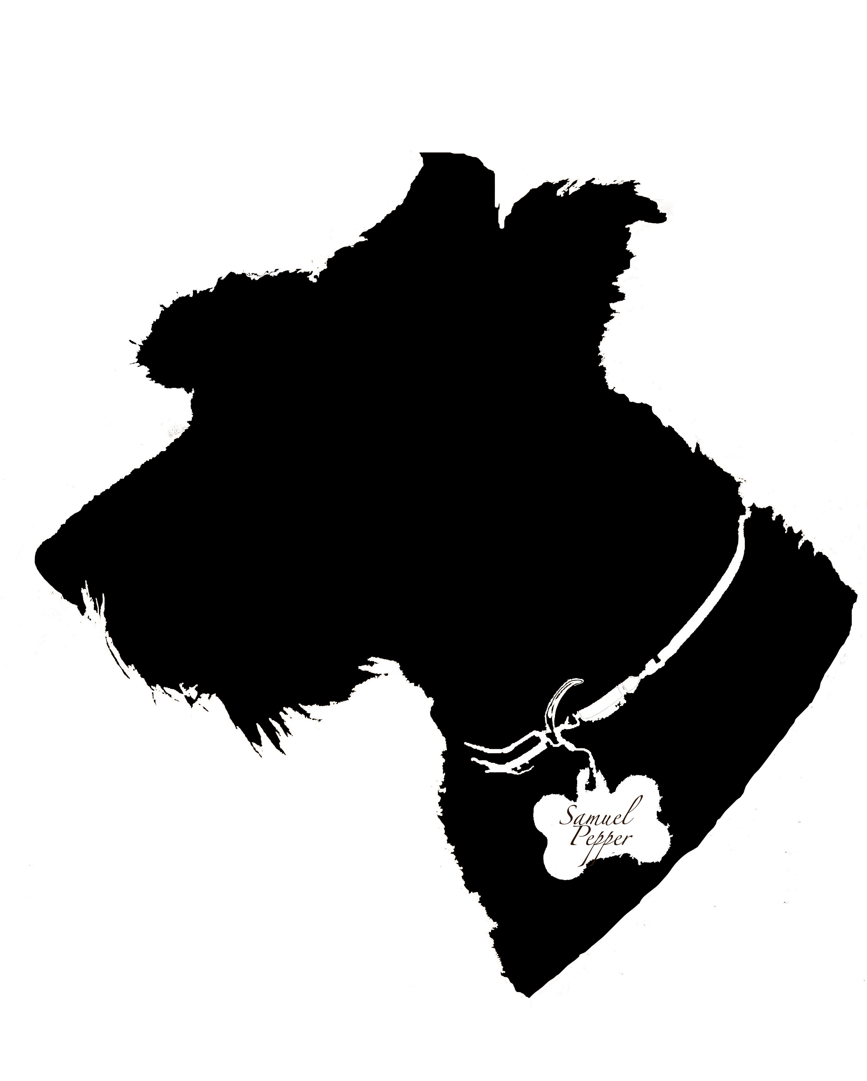 3003x3743 My Mini Schnauzer. Silhouette With Name In Tag Kids Stuff