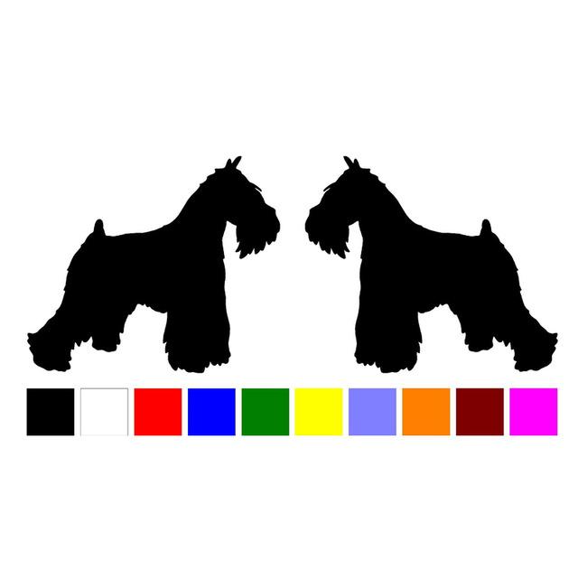 640x640 Hotmeini 2 Miniature Schnauzer Dog Breed Silhouette Home Windows