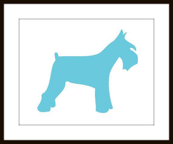 570x476 Schnauzer Silhouette Dog Print 8 X 10 Size Art Dog By Goingplaces2