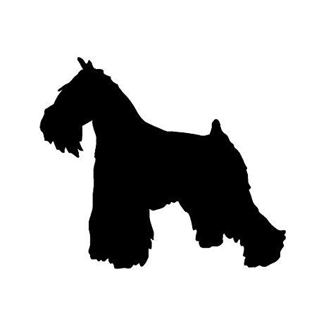 463x463 Miniature Schnauzer Dog Breed Silhouette