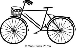 300x193 Vintage Bike Silhouette Clipart Collection