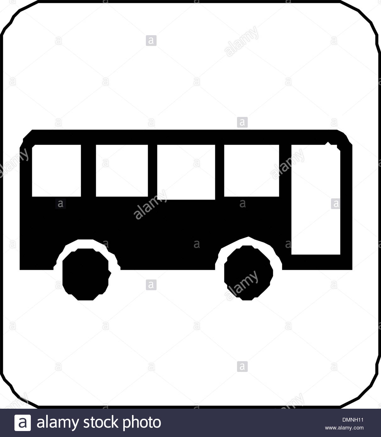 1212x1390 Black Silhouette On A Bus. Vector Illustration Stock Vector Art