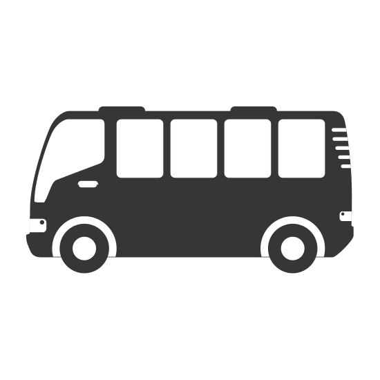 550x550 Silhouette Bus Travel Transport Icon