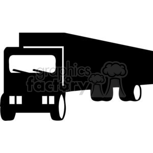 300x300 Royalty Free Semi Truck Silhouettes 379669 Vector Clip Art Image