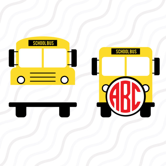 570x570 School Bus Svg Back To School Svgschool Bus Monogram Svg Cut