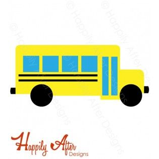 315x315 School Bus Svg Cutting File And Clipart For Your Back To School