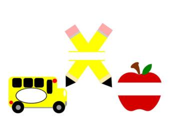 340x270 School Bus, Back To School, Design File, Svg, Dxf, Eps, Cutting