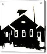 163x186 Schoolhouse Silhouette Art Print By Chris Devries
