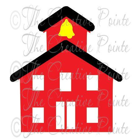 440x451 Free Svg File School House Card Making And Scrapbo Cricut