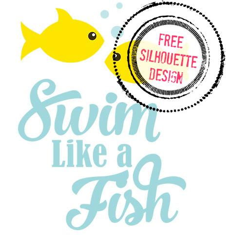 464x481 Free Silhouette Cameo Designs Swim Like A Fish (Silhouette School