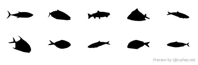 676x222 School Of Fish Brush Set
