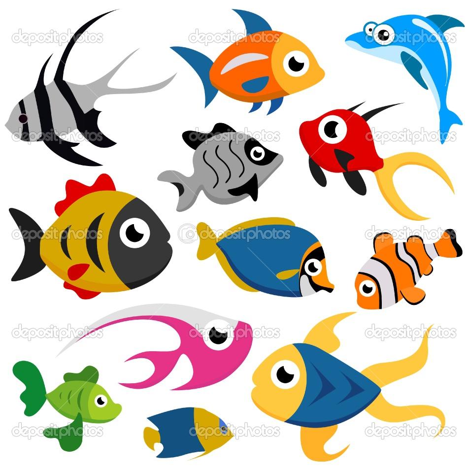 950x950 Fun Fish Silhouette Smiling Orange Small Gold Fish Cartoon Stock