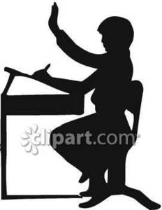232x300 Of A School Student Seated At An Old Fashioned Desk Royalty Free