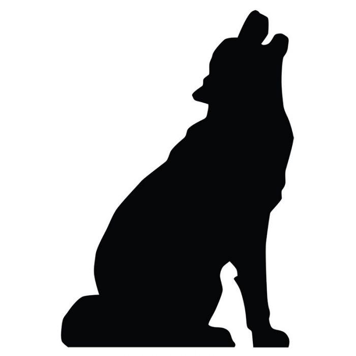 700x700 Howling Wolf Silhouette Cardboard Cutout Standup Standee