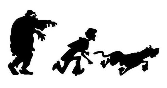 570x299 Scooby Doo And Shaggy Silhouette Vinyl Wall Art Sticker In Any