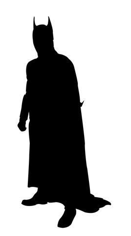 268x480 Batman Silhouette Decal Sticker