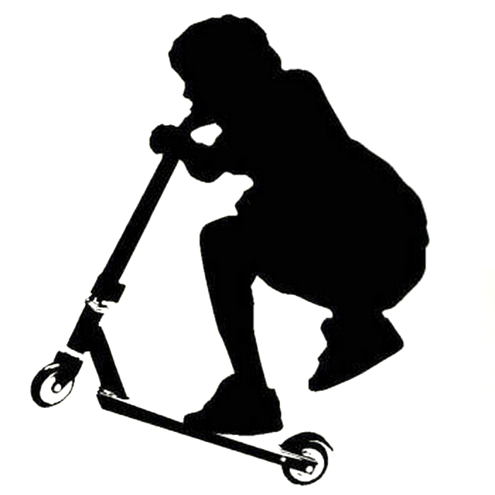 700x700 Kick Scooter Stunt Wall Sticker (Multiple Choices) Monster