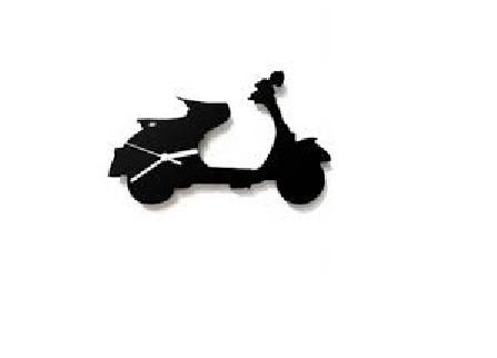 447x322 Vespa Scooter Silhouette Wall Clock Xclusve India