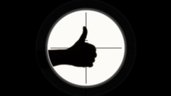 240x135 Sniper Scope Silhouette Hand Ok Like ~ Stock Video