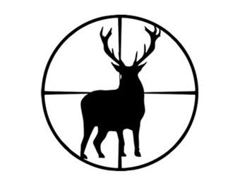 340x270 Deer Scope Svg Dxf File Instant Download Silhouette Cameo Cricut