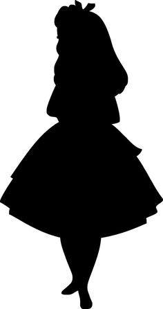 236x446 Silhouette Alice In Wonderland Silhouette Free Clip Art