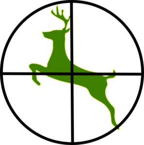 297x300 Deer In Scope Clip Art