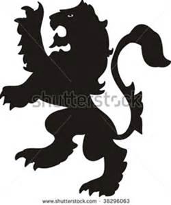 250x299 Scottish Rampant Lion Silhouette