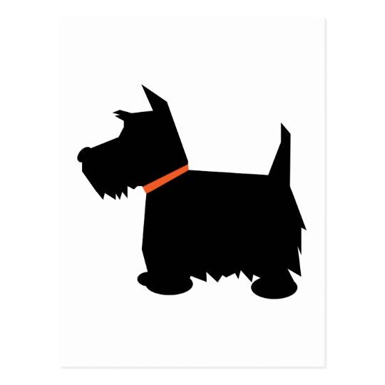 540x540 Scottish Terrier Dog Black Silhouette Postcard