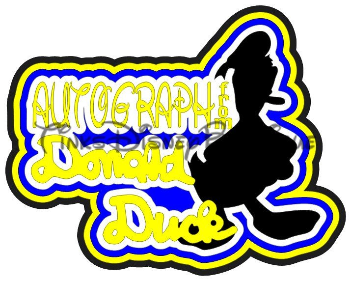 715x572 Disney Svg Donald Duck Autograph Title Scrapbook Vacation
