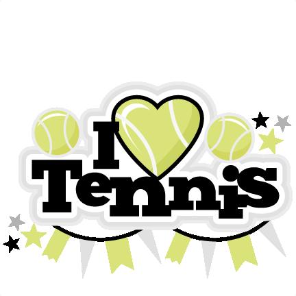 432x432 I Heart Tennis Title Scrapbook Cut File Cute Clipart Files