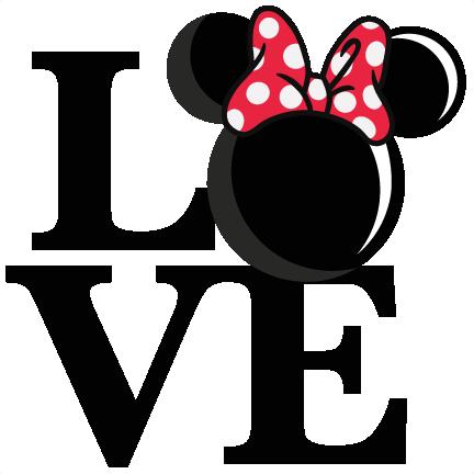 432x432 Love Mouse Girl Title Svg Scrapbook Cut File Cute Clipart Files