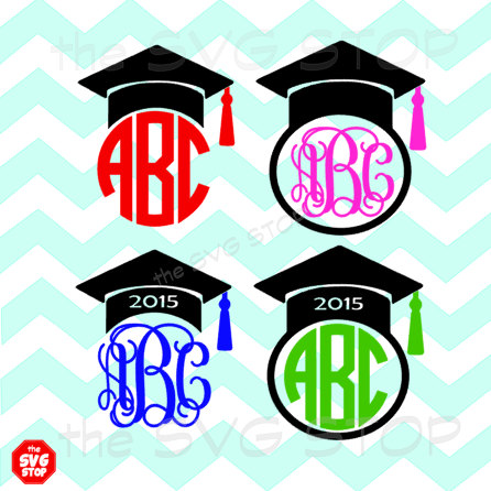 446x446 2017 Graduation Cap Frames Svg And Studio Files For Cricut