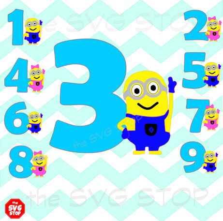 461x457 Minion Birthday Design Svg And Studio Files For Cricut, Silhouette